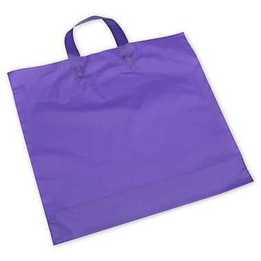 16in. x 15in. + 6in. BG Frosted Economy Shoppers, Purple