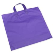 "Polyethylene 15""H x 16""W x 6""D Frosted Shopping Bags, Purple, 250/Pack"