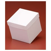 """Clay Coat News Back 6""""H x 6""""W x 6""""L Solid Gift Boxes, White, 50/Pack"""