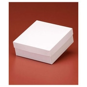 """Clay Coat News Back 3""""H x 8""""W x 8""""L Solid Gift Boxes, White, 50/Pack"""