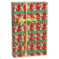 24in. x 417' Cool Reindeer Gift Wrap, Red