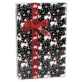 24in. x 417' Reindeer Gift Wrap, Black/White