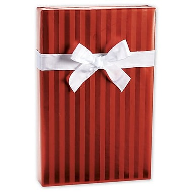 24in. x 417' Stripe Foil Gift Wrap, Red
