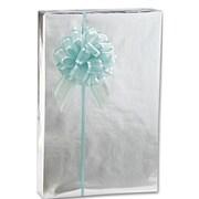 """7 3/8"""" x 100' Metallic Jeweler's Gift Wrap, Silver"""