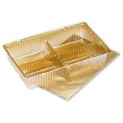 """4 1/2"""" x 2 3/4"""" x 7/8"""" Ballotin Tray, Gold"""