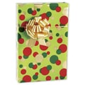 Christmas Dots Gift Wrap, Red/Green and Gold on Green, 24in. x 100' Roll