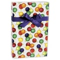 24in. x 100' Jeweled Ornaments Gift Wrap, White/Red/Green/Yellow/Purple
