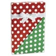 24in. x 100' Christmas Polka Dots Reversible Gift Wrap, White on Red/Green