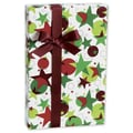 24in. x 100' Starry Holiday Gift Wrap, White