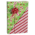 Contempo Canes Reversible Gift Wrap, Red/Green, 24in. x 100' Roll