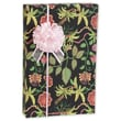 24in. x 100' Silk Botanical Fantasy Gift Wrap, Black