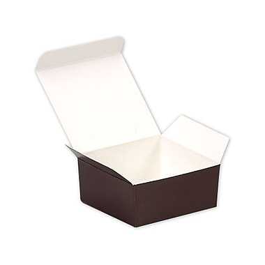 1 1/4in. x 2 1/2in. x 2 5/8in. Paper Ballotin Candy Boxes, Brown