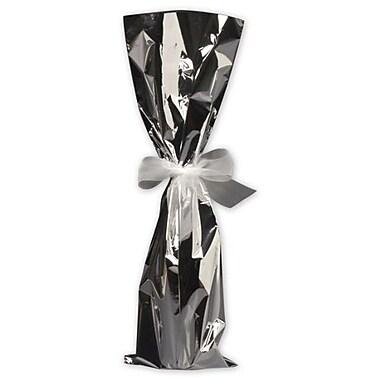 6 1/2in. x 20in. Mylar Wine Bags, Silver