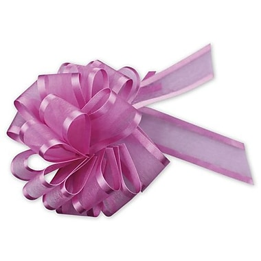 6in. Sheer Satin Edge Pull Bows, Hot Pink