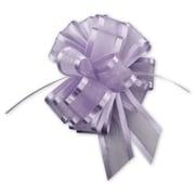 "4"" Sheer Satin Edge Pull Bows, Lavender"