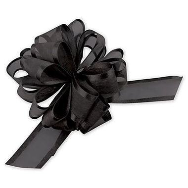 Sheer Satin Edge Pull Bows, 4in.