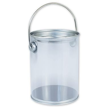 4in. x 3in. Pail, Silver/Clear