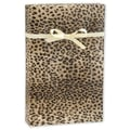 24in. x 417' Leopard Gift Wrap, Black/Tan