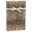 24in. x 417' Leopard Gift Wrap, Black/Tan