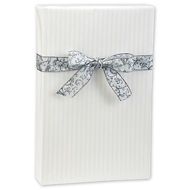 24in. x 417' Pearl Stripe Gift Wrap, White