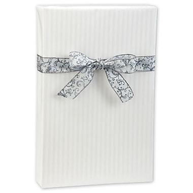 24in. x 417' Pearl Stripe Gift Wrap, White
