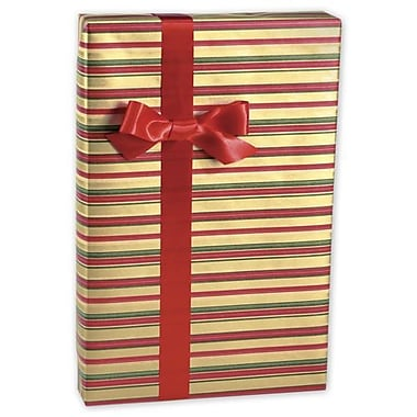 24in. x 417' Holiday Classic Stripes Gift Wrap