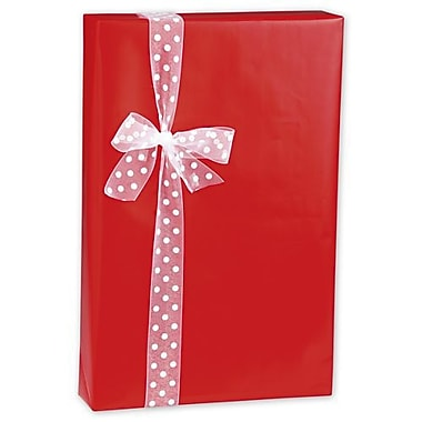 24in. x 417' Gloss Gift Wrap, Red