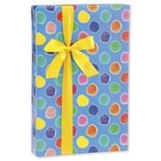 "24"" x 417' Painted Polka Dots Gift Wrap"