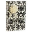 24in. x 417' Damask Black Onyx Gift Wrap, White