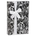 24in. x 417' Tapestry Gift Wrap, Black/White