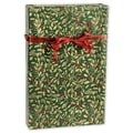 24in. x 100' Golden Holly Gift Wrap, Green