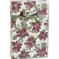 24in. x 100' Painterly Poinsettias Gift Wrap, White