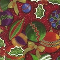 24in. x 100' Ornaments and Holly Gift Wrap