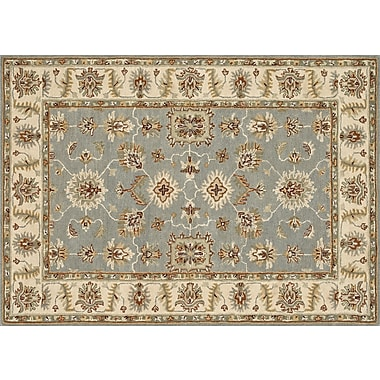 Loloi Fairfield Life 100% Wool 5' x 7' 6in. Area Rug, Slate/Cream