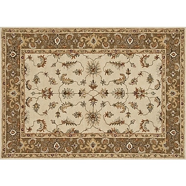 Loloi Fairfield Life 100% Wool 7' 6in. x 9' 6in. Area Rug, Ivory/Bronze