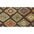 Loloi Olivia Life 100% Polyester 2' 3in. x 3' 9in. Area Rug, Brown/Multicolored