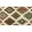 Loloi Olivia Life 100% Polyester 2' 3in. x 3' 9in. Area Rug, Ivory/Multicolored