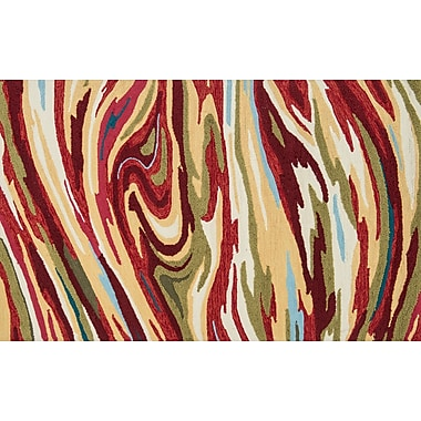 Loloi Olivia Life 100% Polyester 3' 6in. x 5' 6in. Area Rug, Red Multicolored