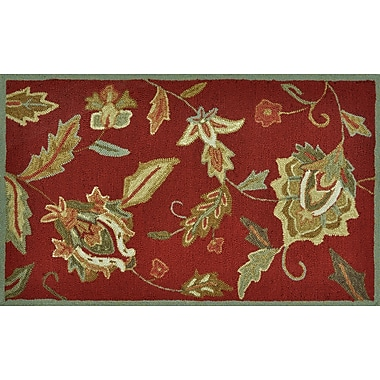 Loloi Summerton Life 100% Polyester 2' 3in. x 3' 9in. Accent Rug, Red-SUMRSRS01AQGR2339