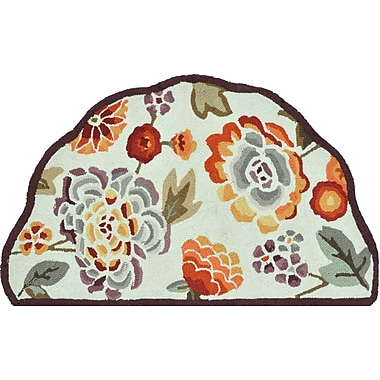 Loloi Summerton Life 100% Polyester 2' 3in. x 3' 9in. Area Rug, Ivory/Plum
