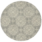 Loloi Summerton Life 100% Polyester 3' Dia Area Rug, Grey Ivory-SUMRSRS01AQGR300R