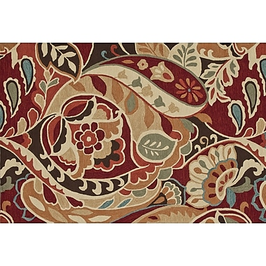 Loloi Summerton Life 100% Polyester 5' x 7' 6in. Area Rug, Red/Multicolored