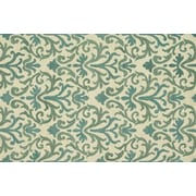 """Loloi Transitional Taylor 100% Wool 5' x 7' 6"""" Rug, Ivory/Light Blue"""