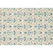 """Loloi Transitional Taylor 100% Wool 7' 10"""" x 11' Rug, Ivory/Light Blue"""