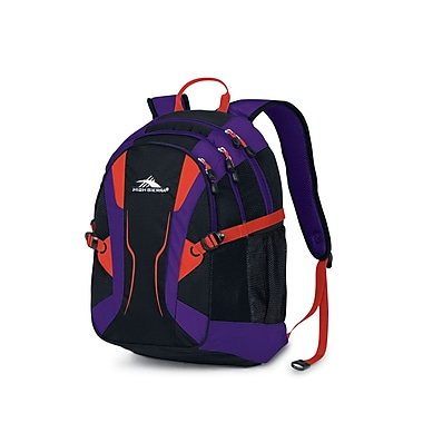 High Sierra Crawler Backpack Black Purple