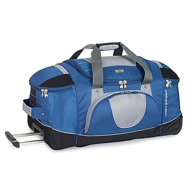 High Sierra AT2500 26in. Wheeled Duffel W/ Backpack Straps Blue