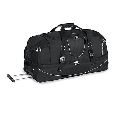 High Sierra AT2502 36in. Drop-Bottom Wheeled Duffel W/ Backpack Straps Black