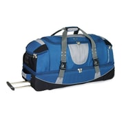 High Sierra AT2502 36 Drop-Bottom Wheeled Duffel W/ Backpack Straps Blue