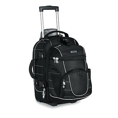 High Sierra AT2505 Carry-On Wheeled Backpack W/ Removable Day Pack Black