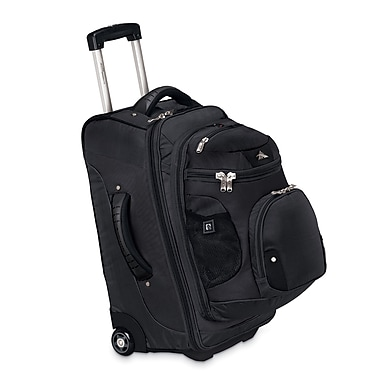 High Sierra AT305 22in. Carry-On Wheeled Backpack W/ Removable Day Pack Black